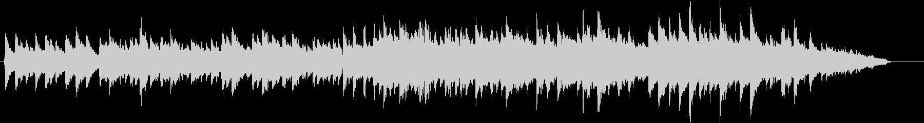 ピアノの旋律が印象的な、和風BGMの未再生の波形