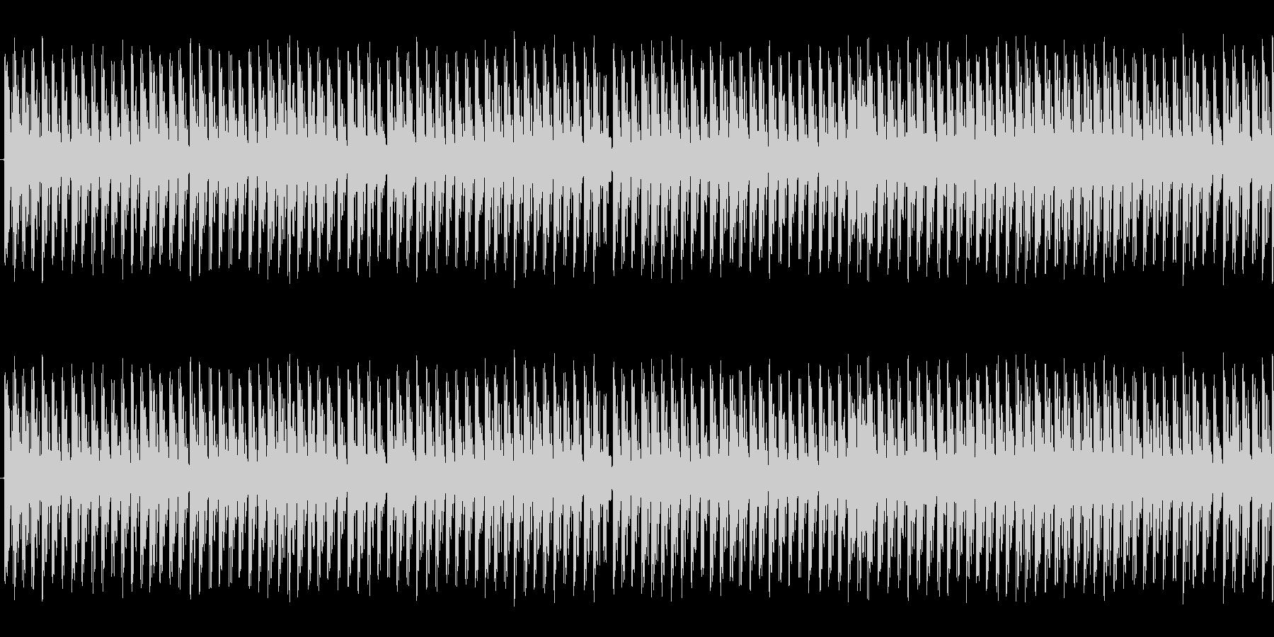 水たまりの上を走っているかのような音ですの未再生の波形