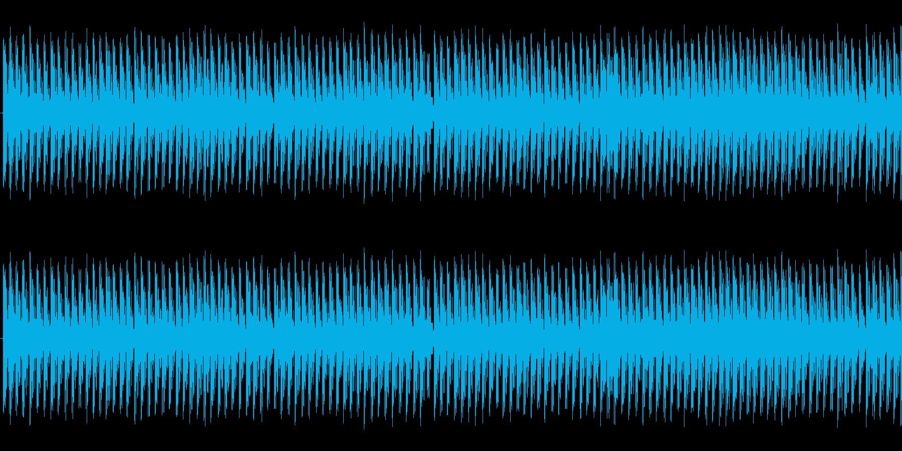 水たまりの上を走っているかのような音ですの再生済みの波形
