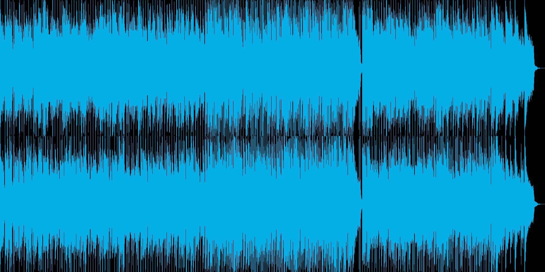 子供用の伸び伸びとした雰囲気のBGM2の再生済みの波形