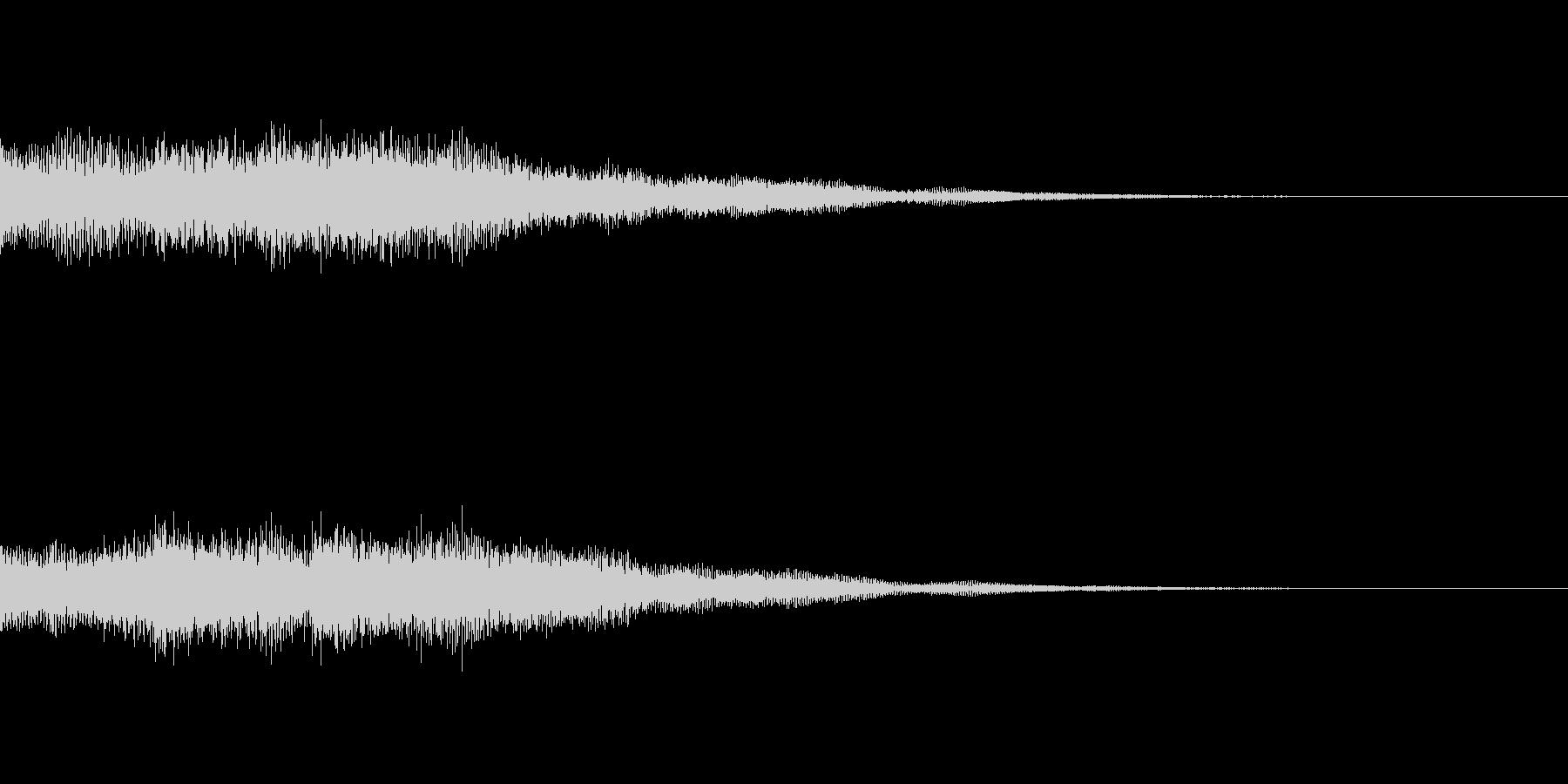 アプリやゲームクリア時のシンセベル効果音の未再生の波形