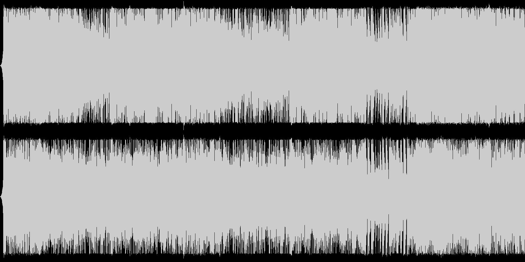 緊迫感のあるパワフルオーケストラBGMの未再生の波形