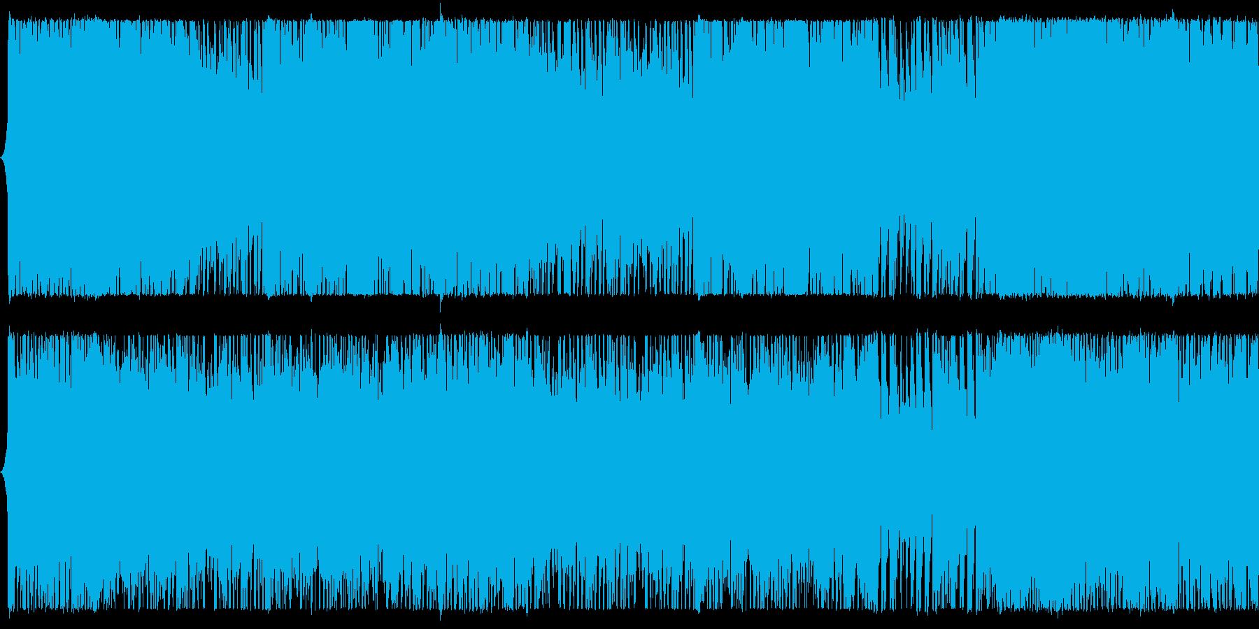 緊迫感のあるパワフルオーケストラBGMの再生済みの波形