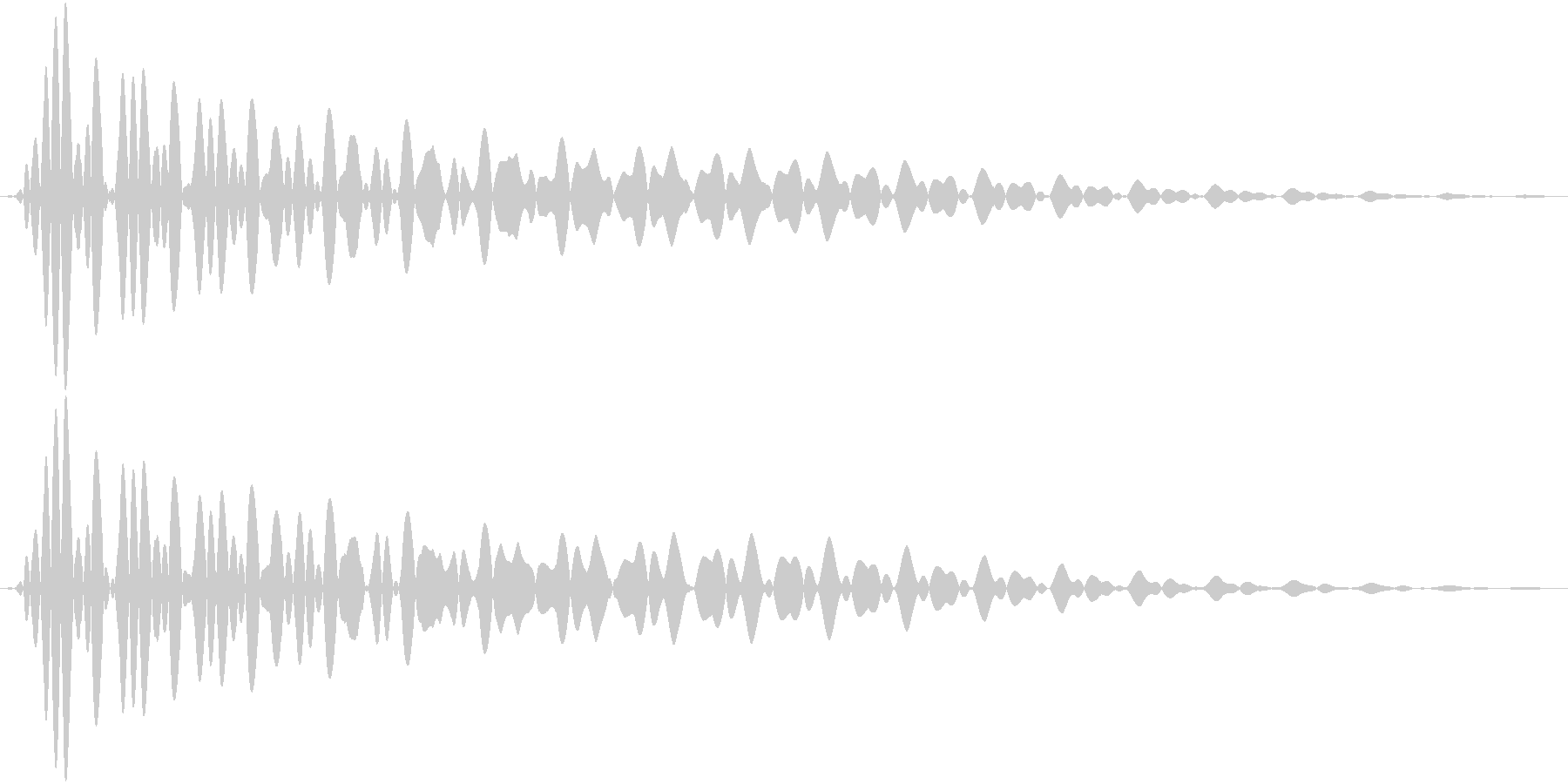 PureTouch アプリ用タッチ音65の未再生の波形