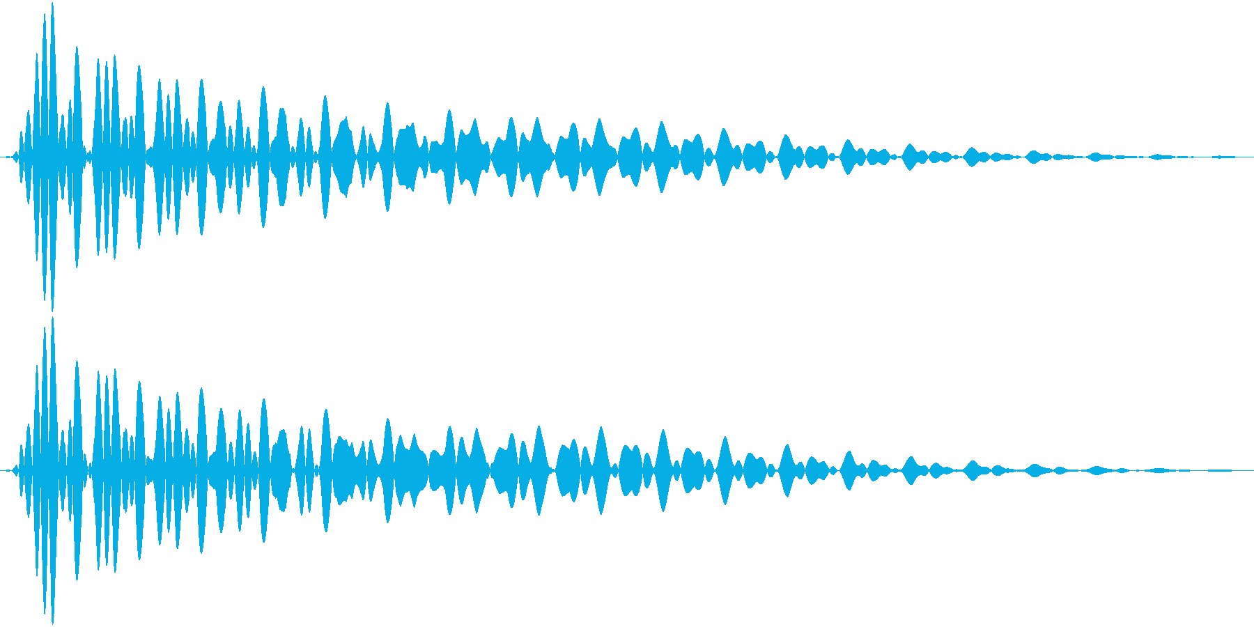 PureTouch アプリ用タッチ音65の再生済みの波形