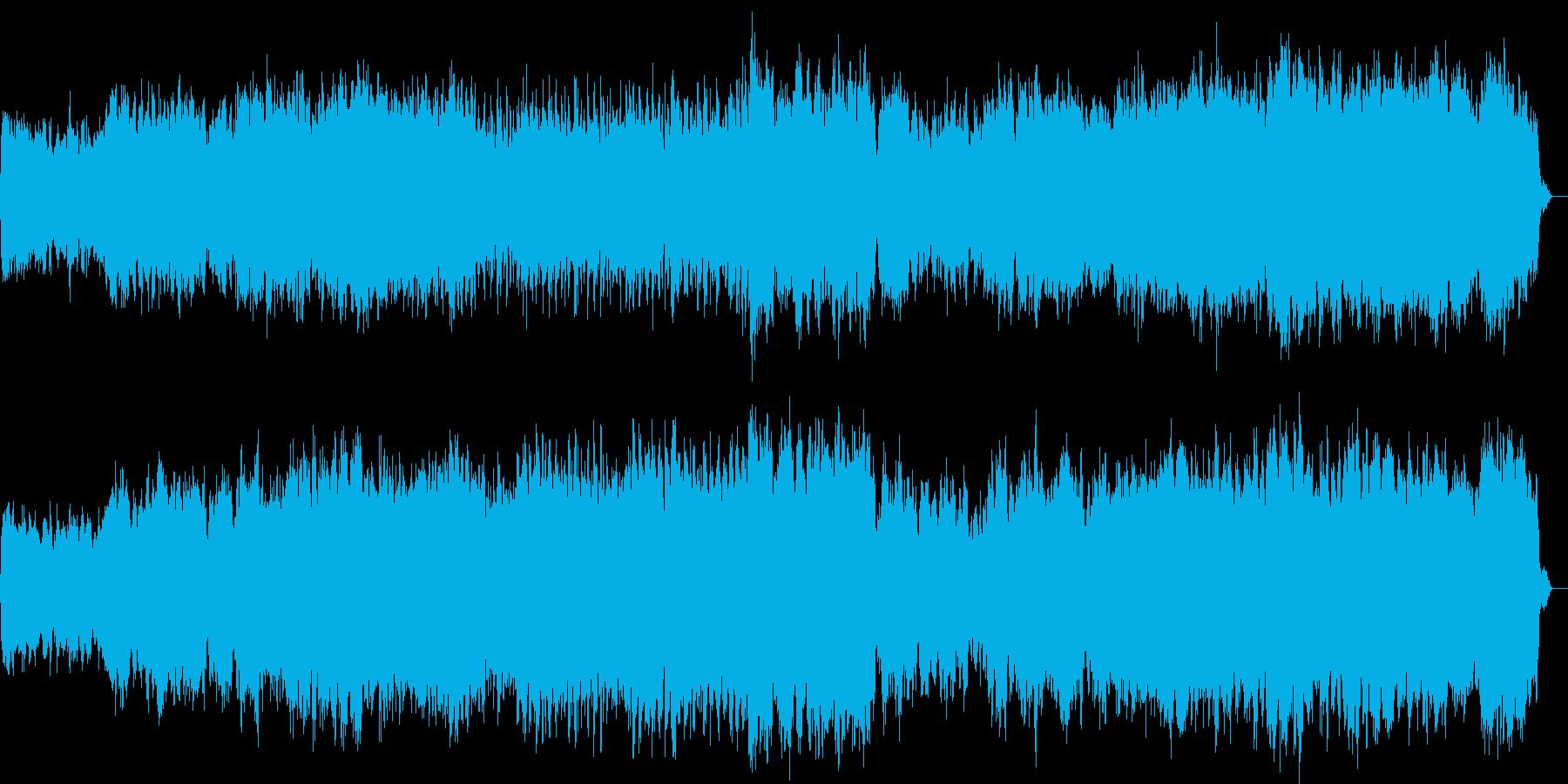 寂しくて悲しいストリングスの曲の再生済みの波形