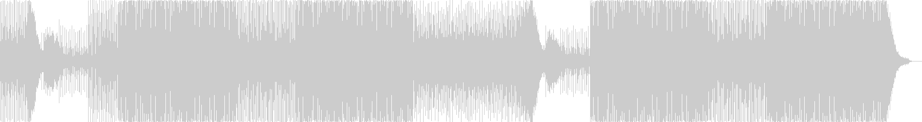 ギターカッティングがファンキーなEDMの未再生の波形