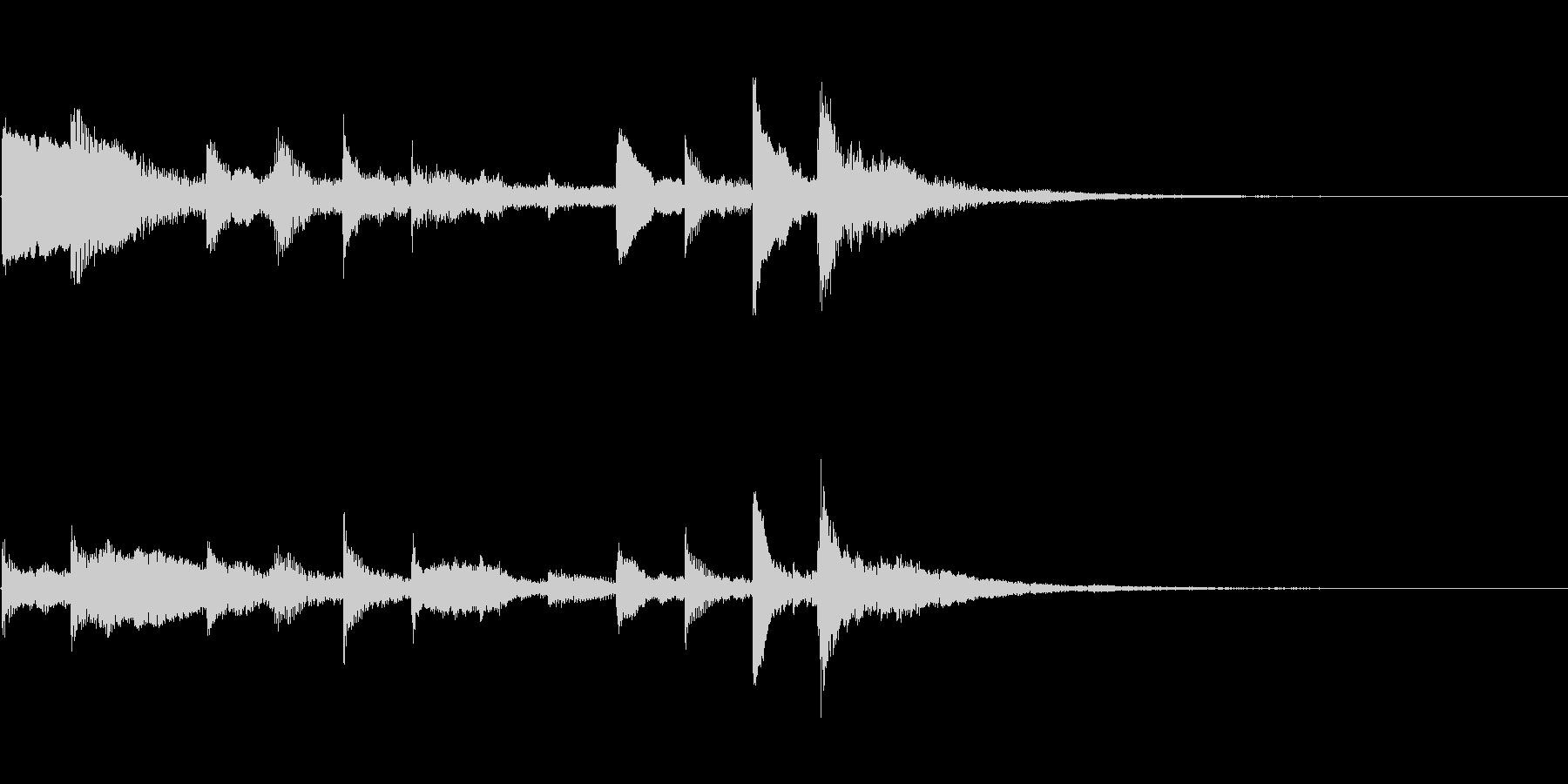 ハープを使ったシンプルなサウンドロゴの未再生の波形