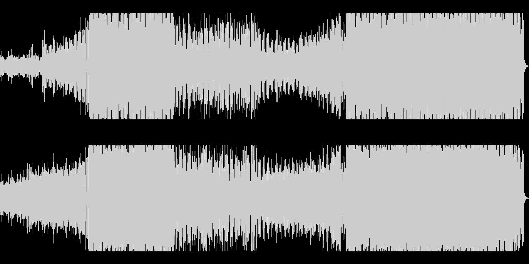 シンセとブラスが織りなすEDMサウンドの未再生の波形