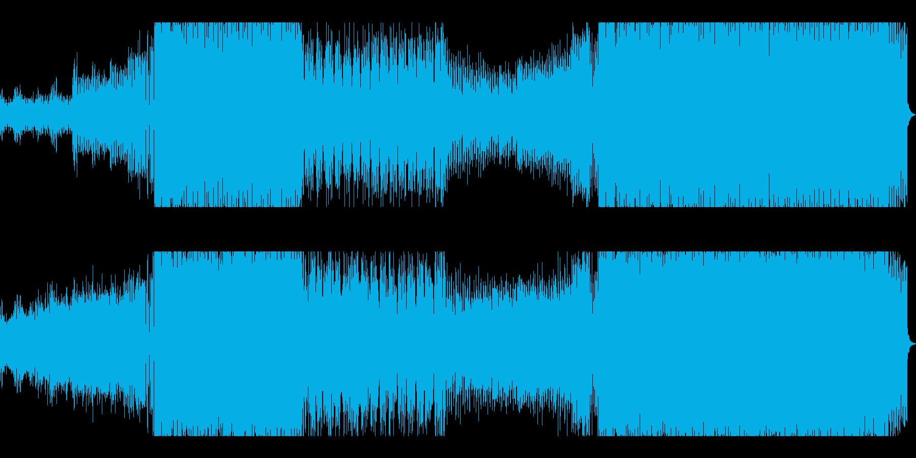 シンセとブラスが織りなすEDMサウンドの再生済みの波形