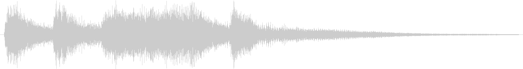 クラシックなイベント達成音ジングル9の未再生の波形