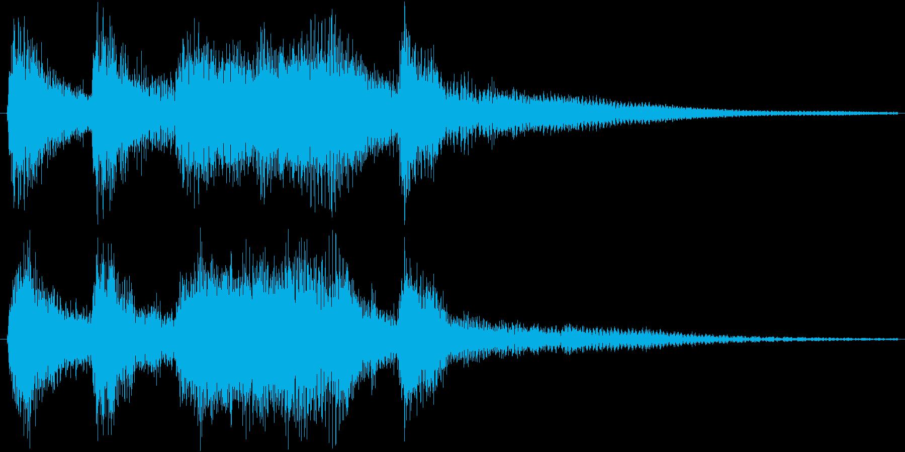 クラシックなイベント達成音ジングル9の再生済みの波形