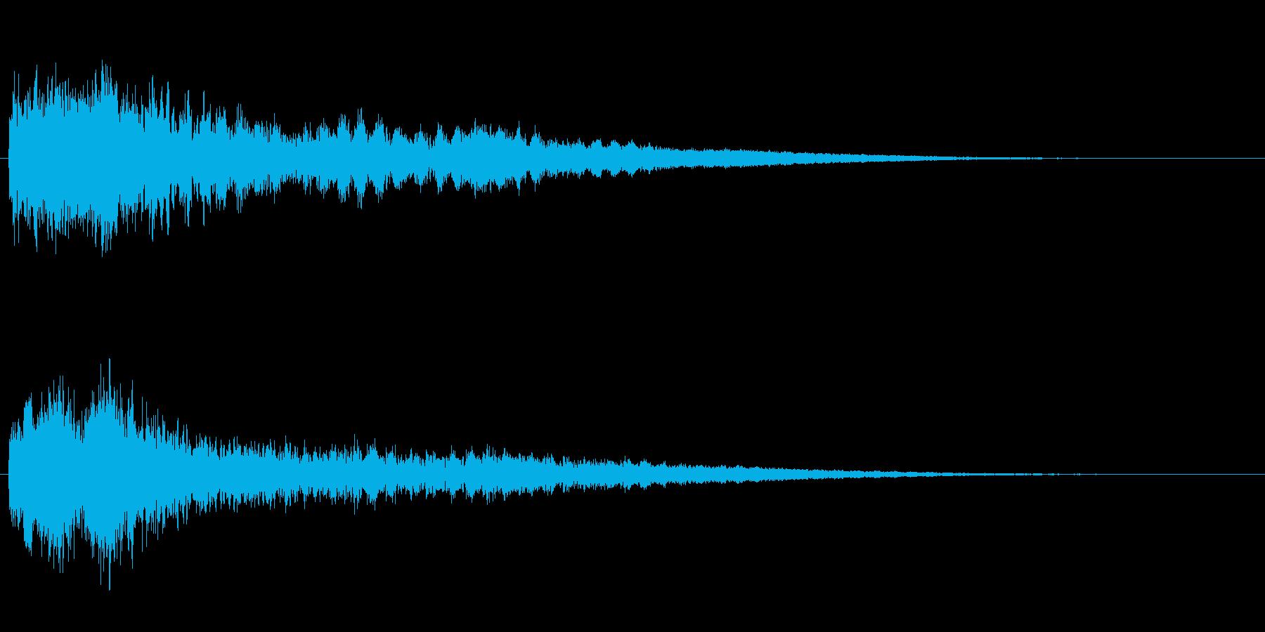 サスペンスに最適!ピアノの弦を弄ぶ音40の再生済みの波形
