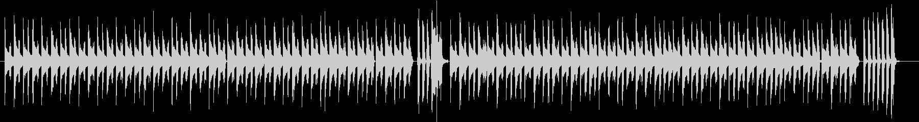 動画配信の後ろで流れるシンプルな音楽の未再生の波形
