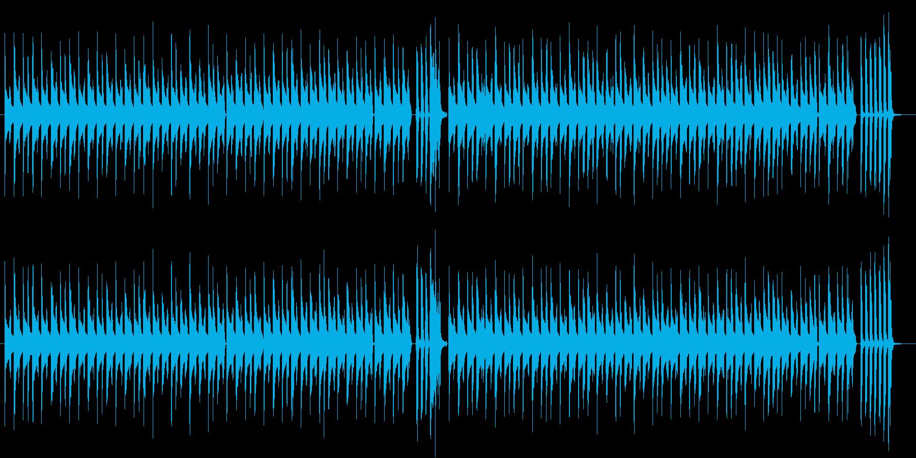 動画配信の後ろで流れるシンプルな音楽の再生済みの波形