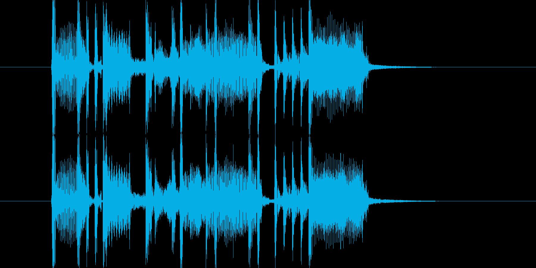 オルガンとベースのファンキーなジングルの再生済みの波形