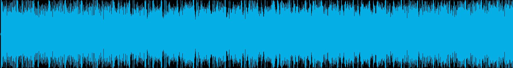 明るく爽やかなエレクトロダンス楽曲の再生済みの波形