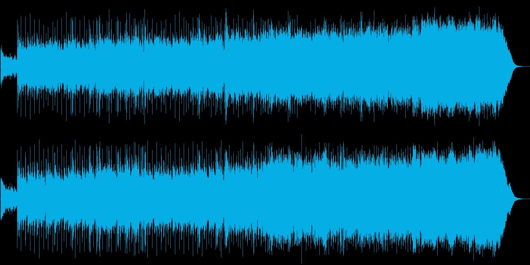 ギターオーケストラが感動的なロックの再生済みの波形