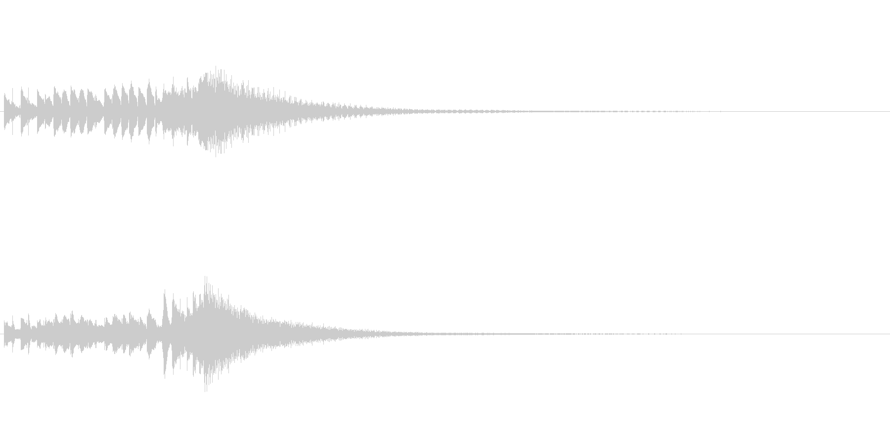 琴、陰旋法、トレモロ下降スケールジングルの未再生の波形
