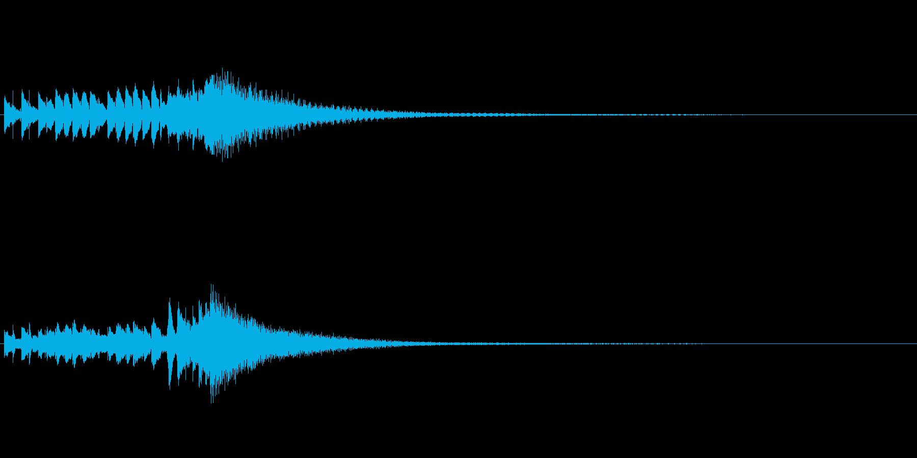 琴、陰旋法、トレモロ下降スケールジングルの再生済みの波形