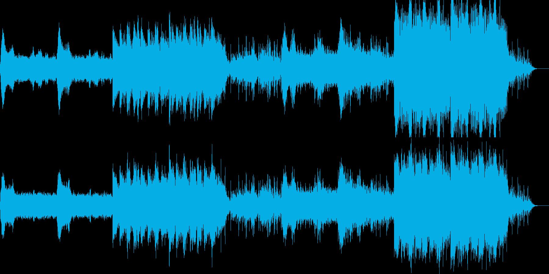 映像のためのアジア風音楽ー僧院の再生済みの波形