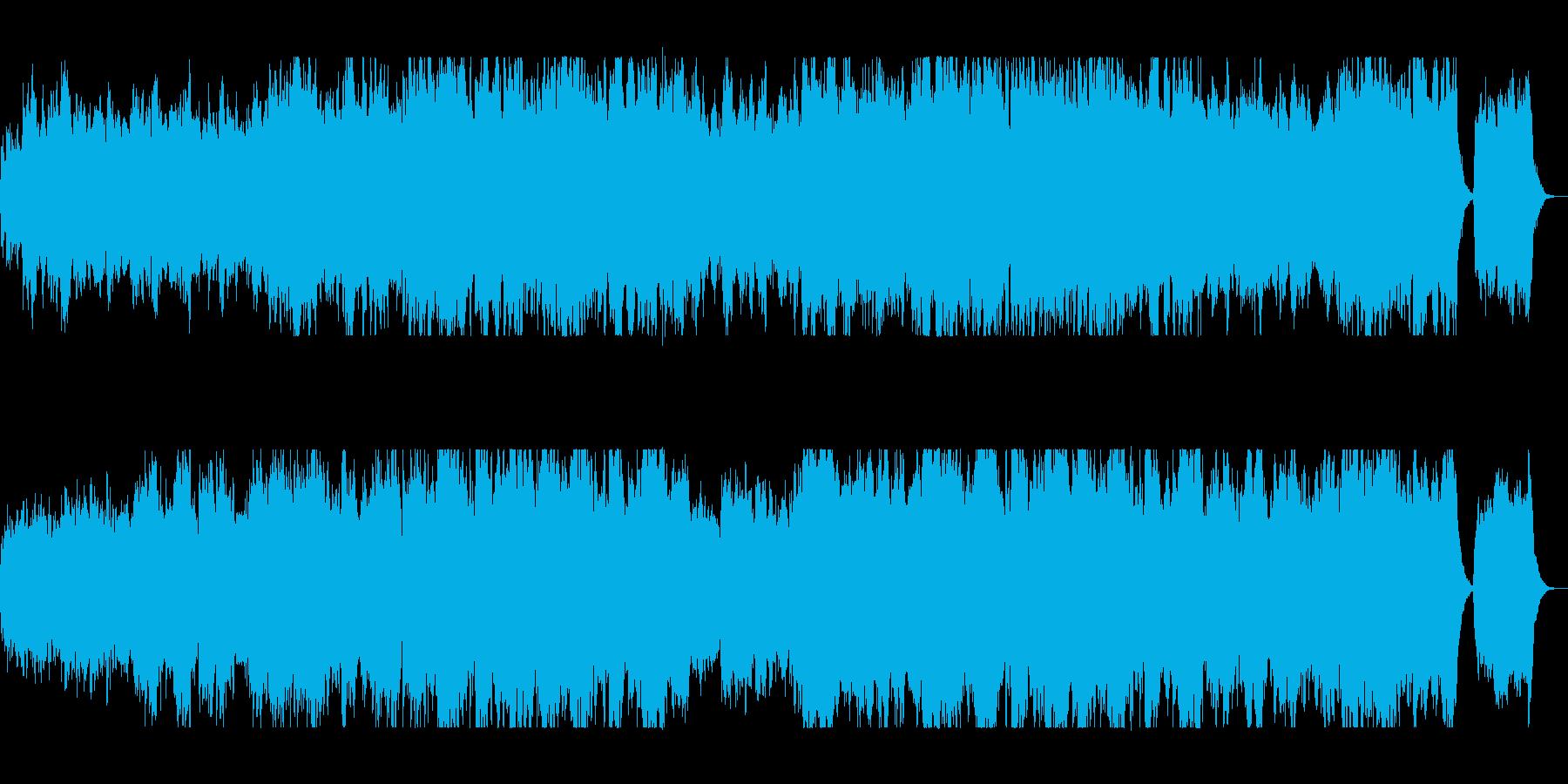 盛大で明るい弦打楽器シンセサウンドの再生済みの波形