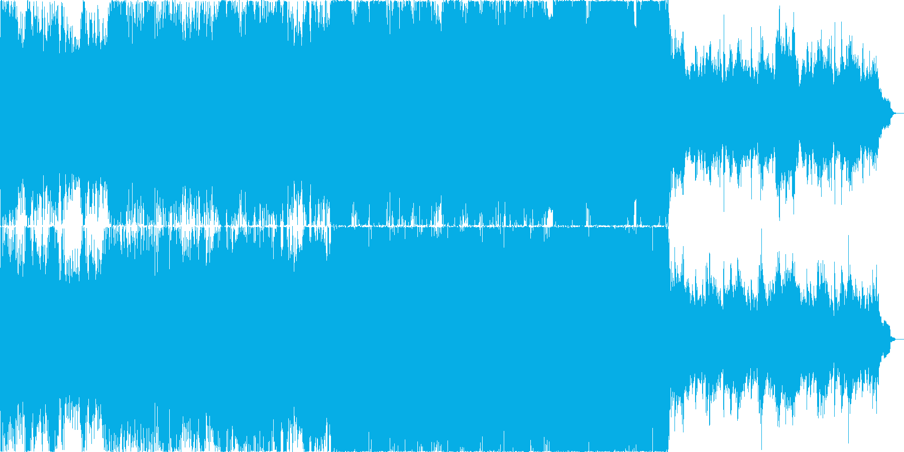 ダーク、戦争等重いイメージのオーケストラの再生済みの波形