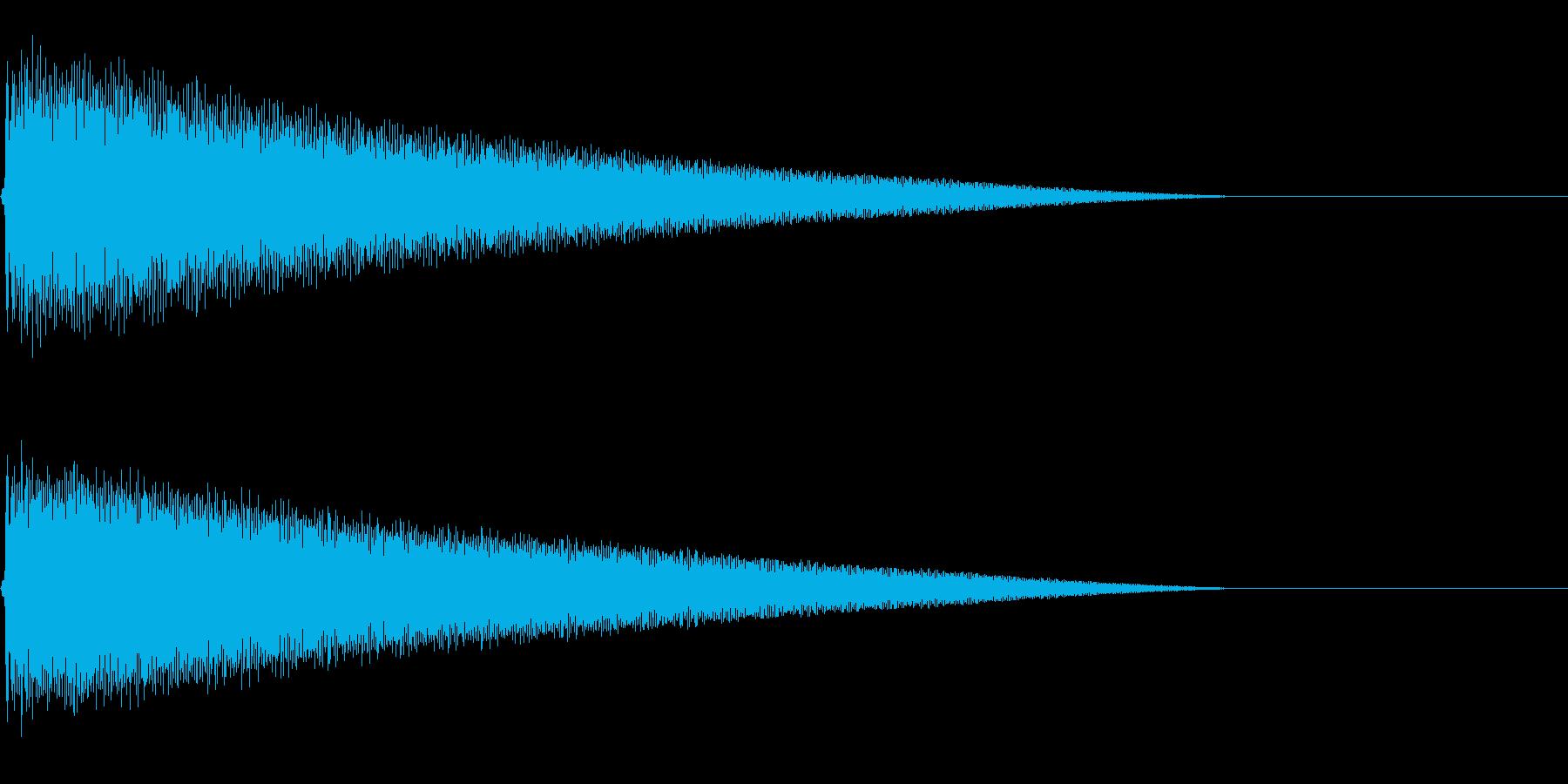 ごーーーーーんの再生済みの波形