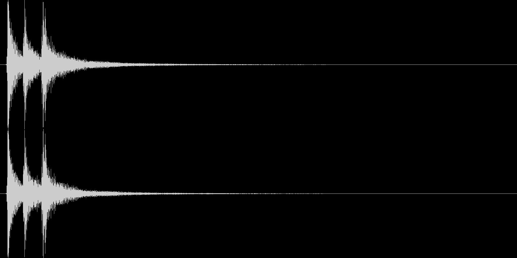 ▼生演奏 三味線ジャジャジャーンの未再生の波形