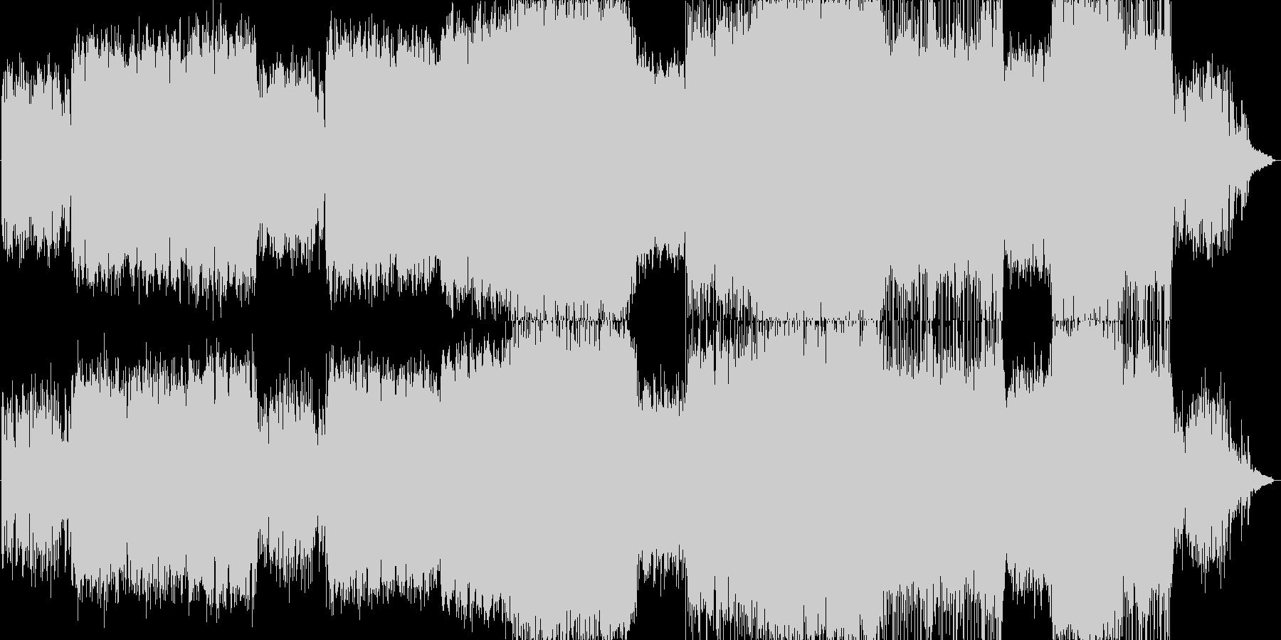 卒業式の合唱曲イメージなバラードの未再生の波形