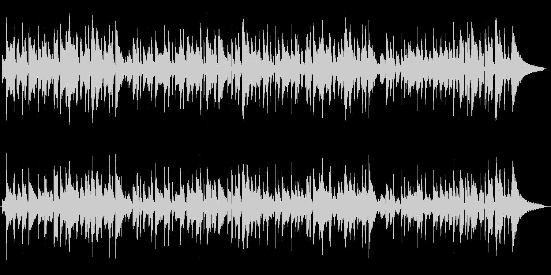 ピアノトリオによるジャズの未再生の波形