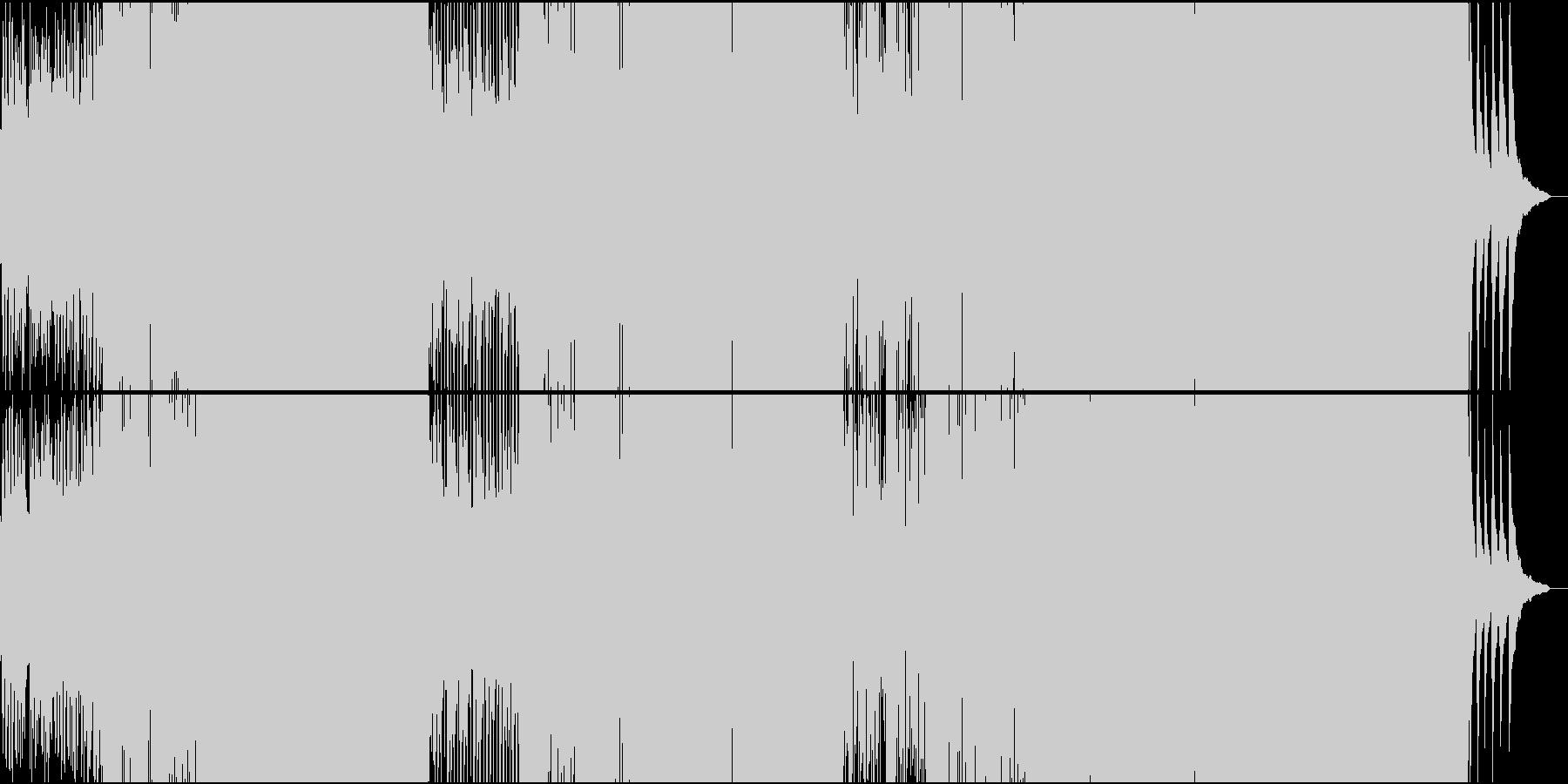 激しいスパニッシュ系BigroomEDMの未再生の波形
