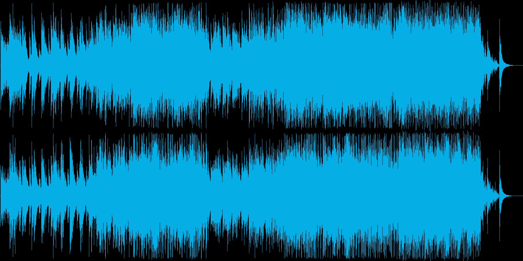 静かな所からドラマティックに盛り上がるの再生済みの波形