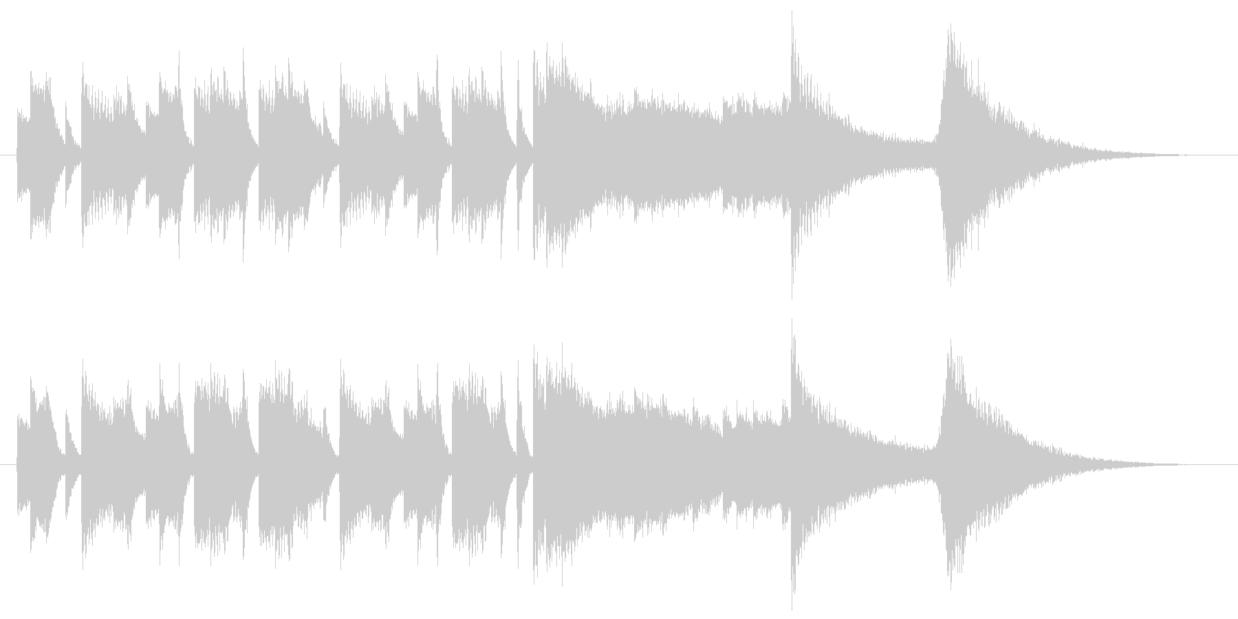 トライアングルのコミカルなサウンドロゴの未再生の波形