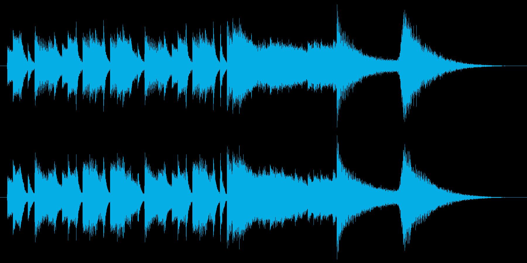トライアングルのコミカルなサウンドロゴの再生済みの波形