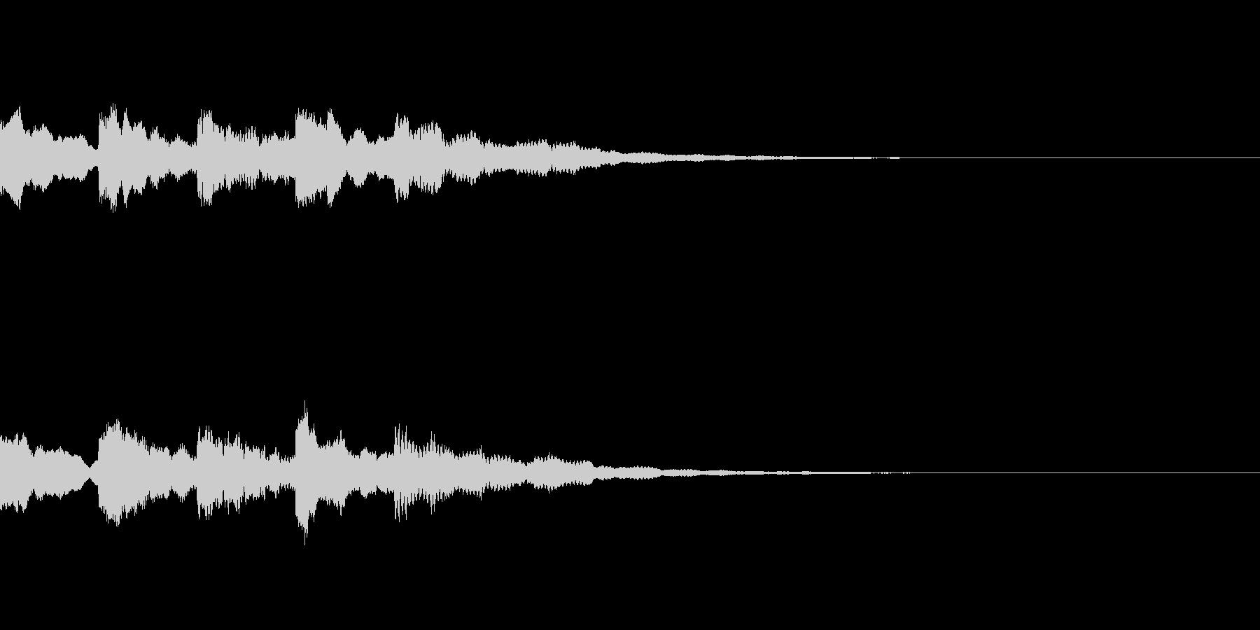 暗い怖い音01の未再生の波形