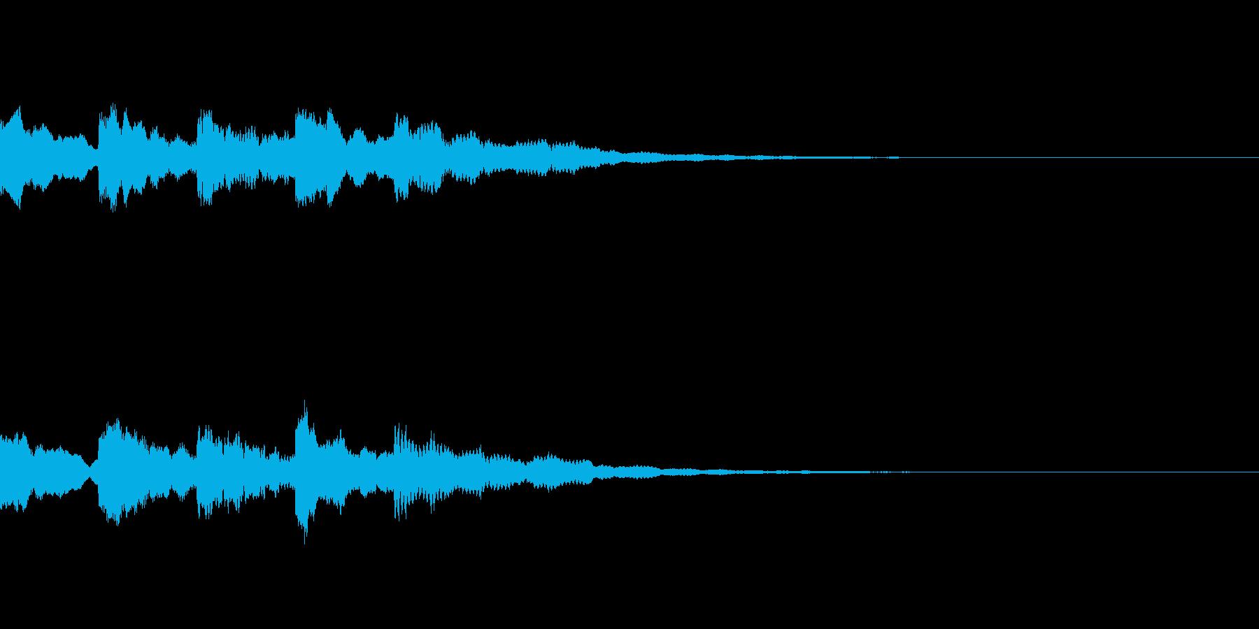暗い怖い音01の再生済みの波形