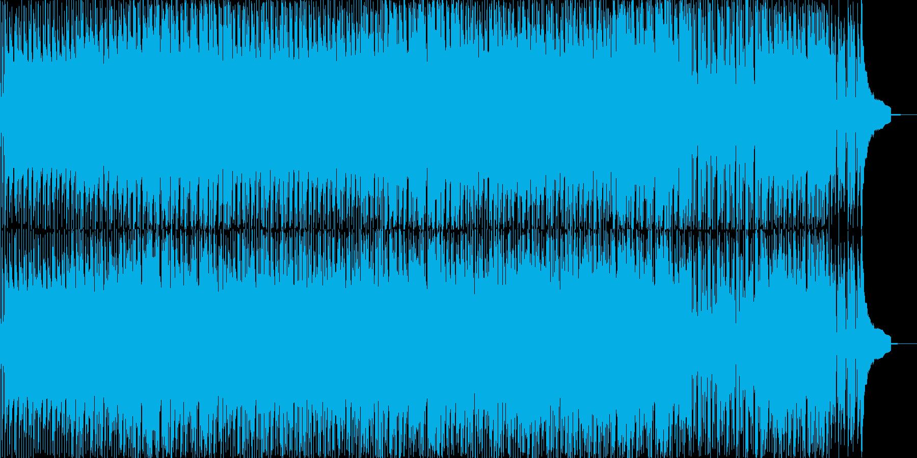 軽快なリズムで陽気なシーンなどのBGM…の再生済みの波形