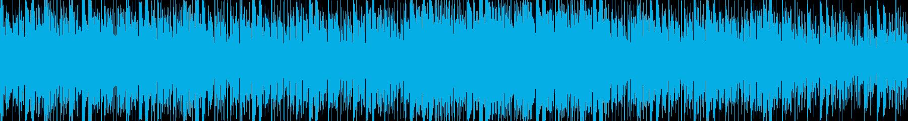 近未来電脳世界をイメージさせるテクノ系の再生済みの波形