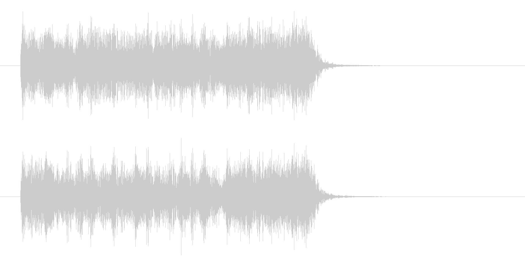 躍動感のあるハードロックの未再生の波形