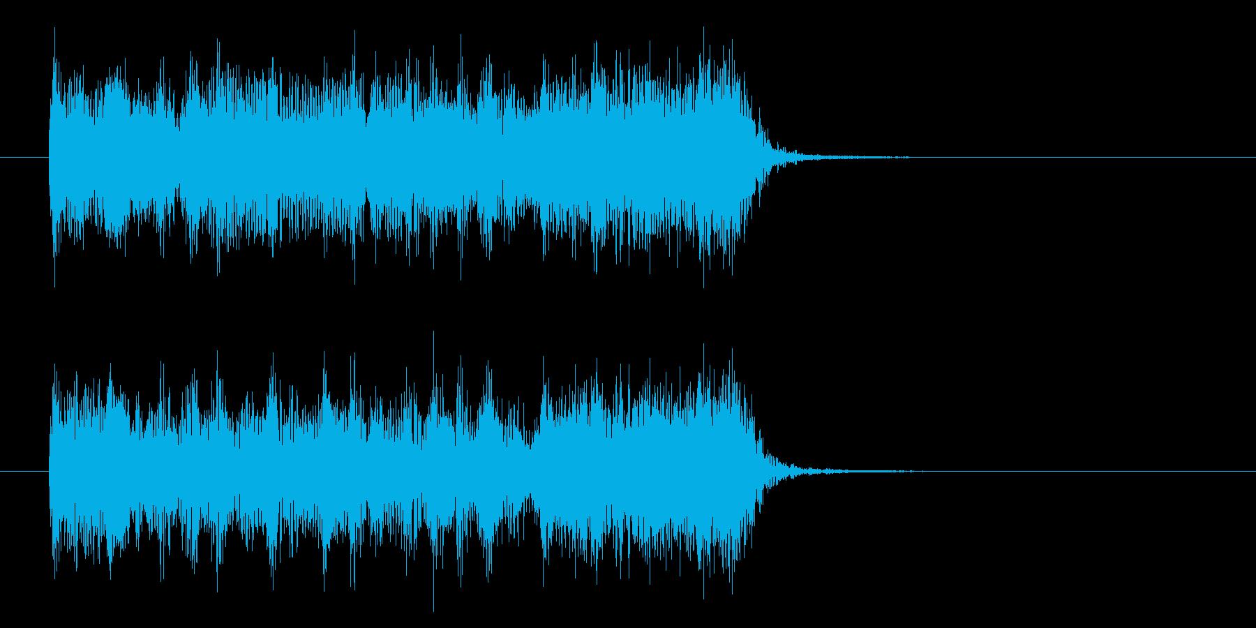躍動感のあるハードロックの再生済みの波形