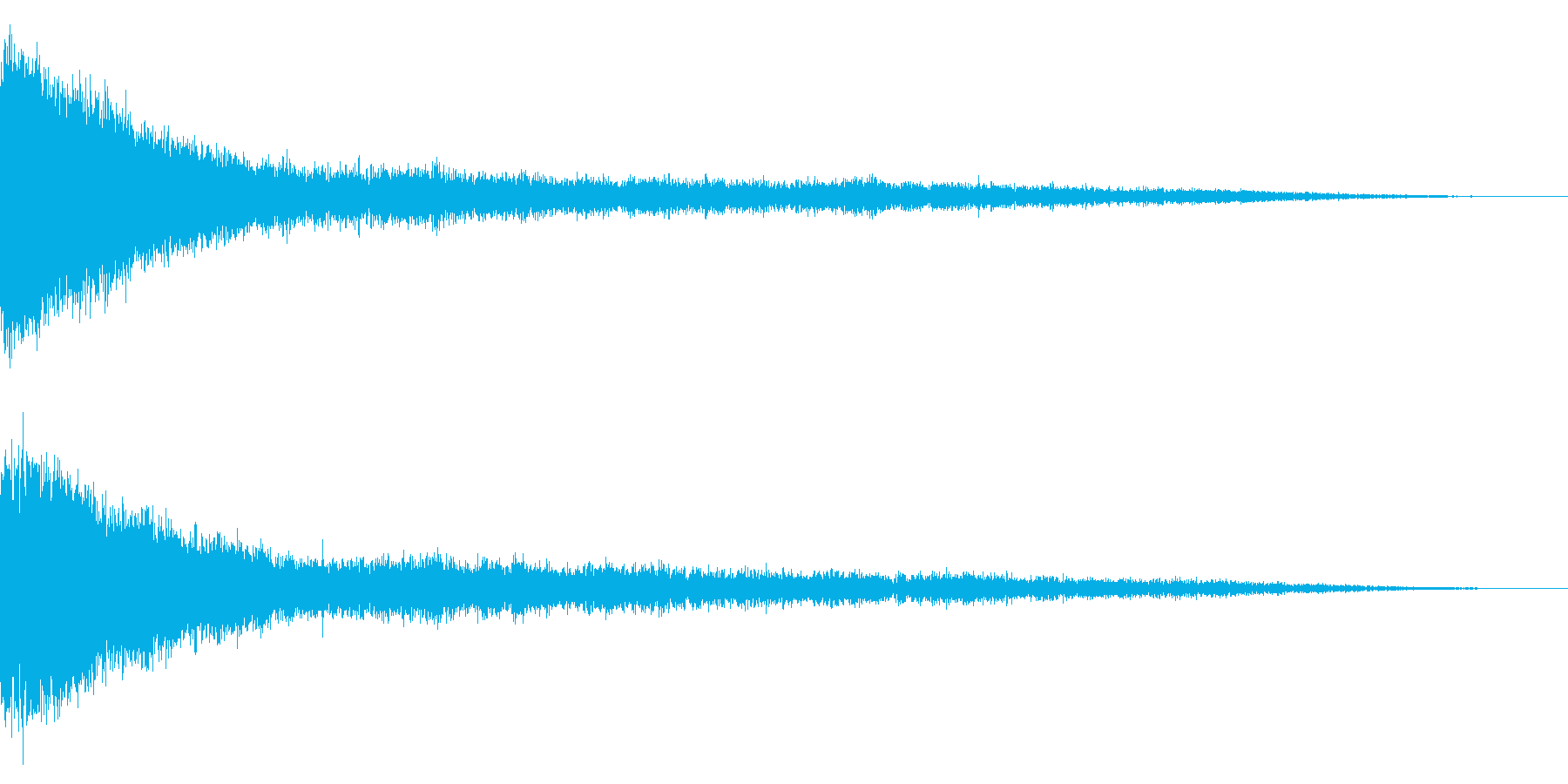 ホラー系アタック音43の再生済みの波形