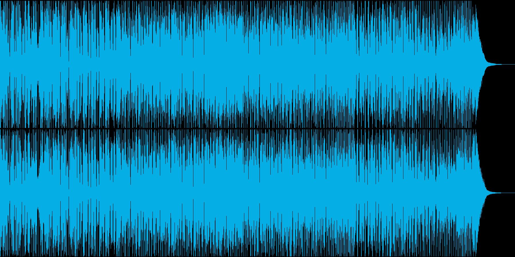 洋楽のダンスミュージックっぽいBGMの再生済みの波形