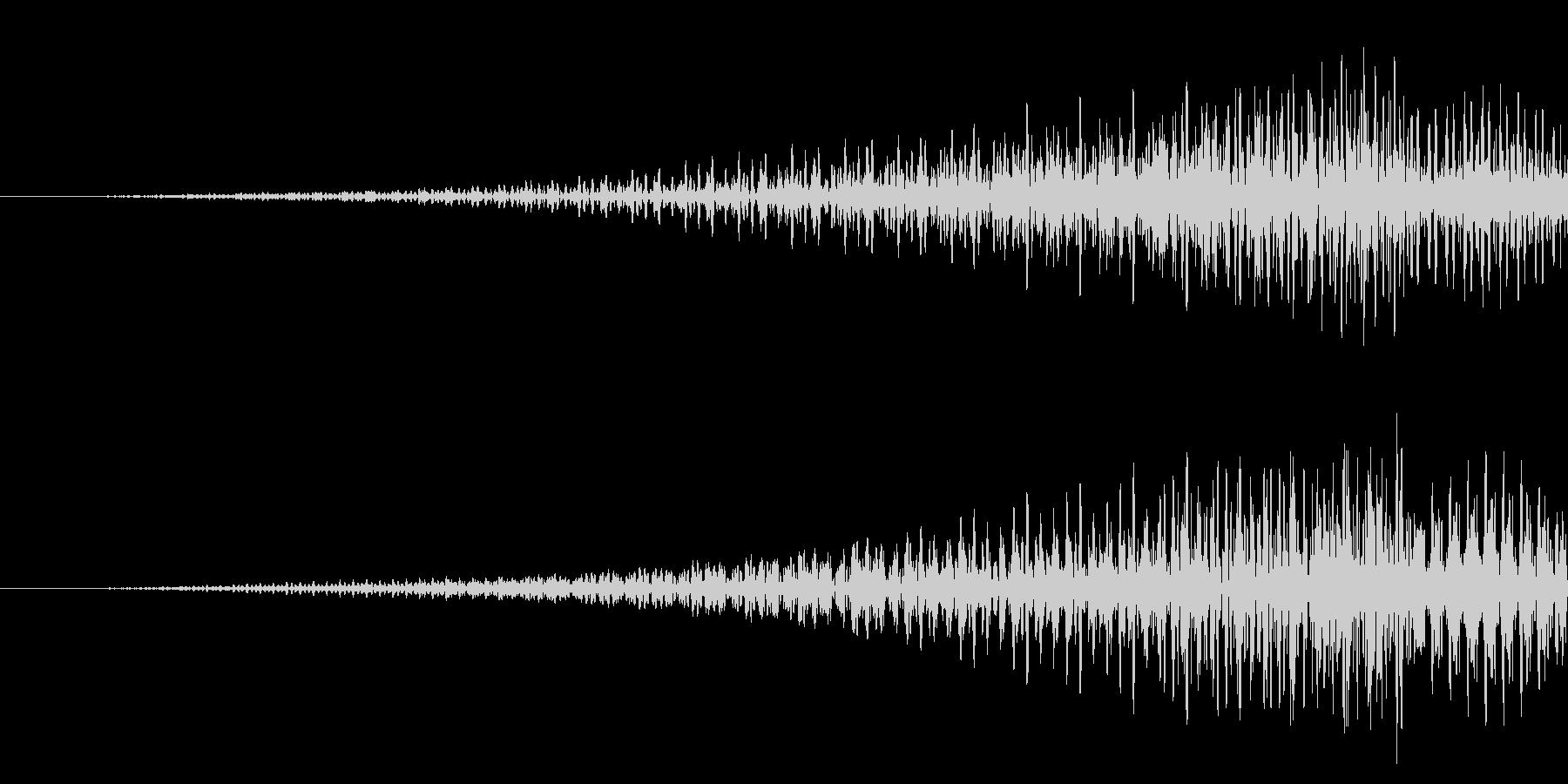 元に戻す/リバース/電子音の未再生の波形