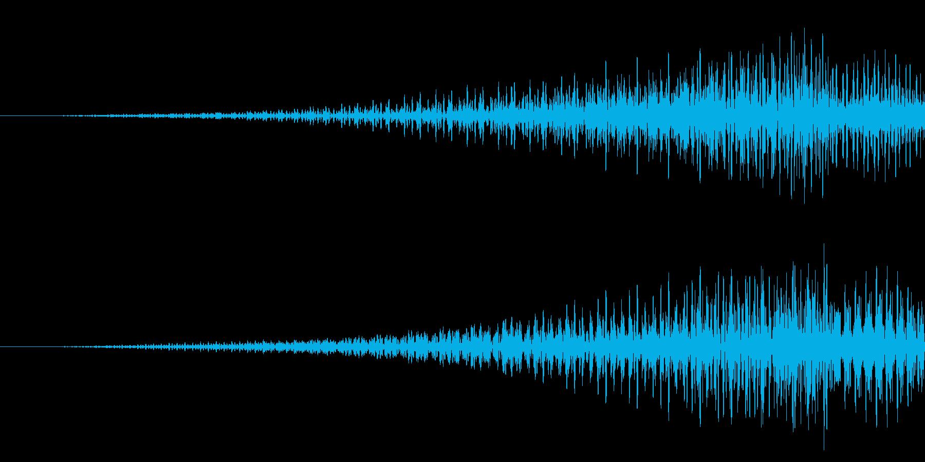 元に戻す/リバース/電子音の再生済みの波形