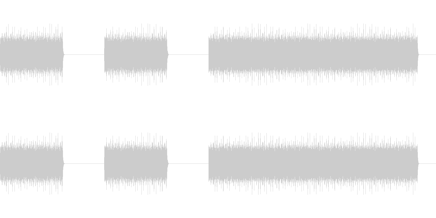 ガガガガ(工事,マシンガン,削る)の未再生の波形