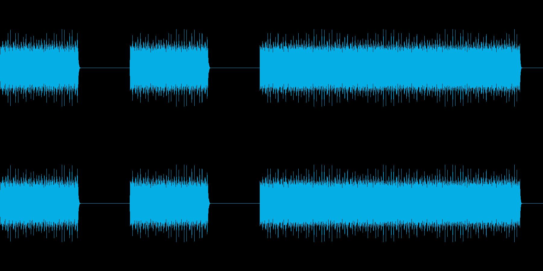 ガガガガ(工事,マシンガン,削る)の再生済みの波形