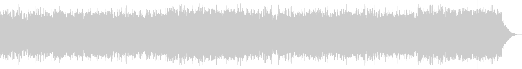 和楽器をたくさん使った重低音の曲の未再生の波形