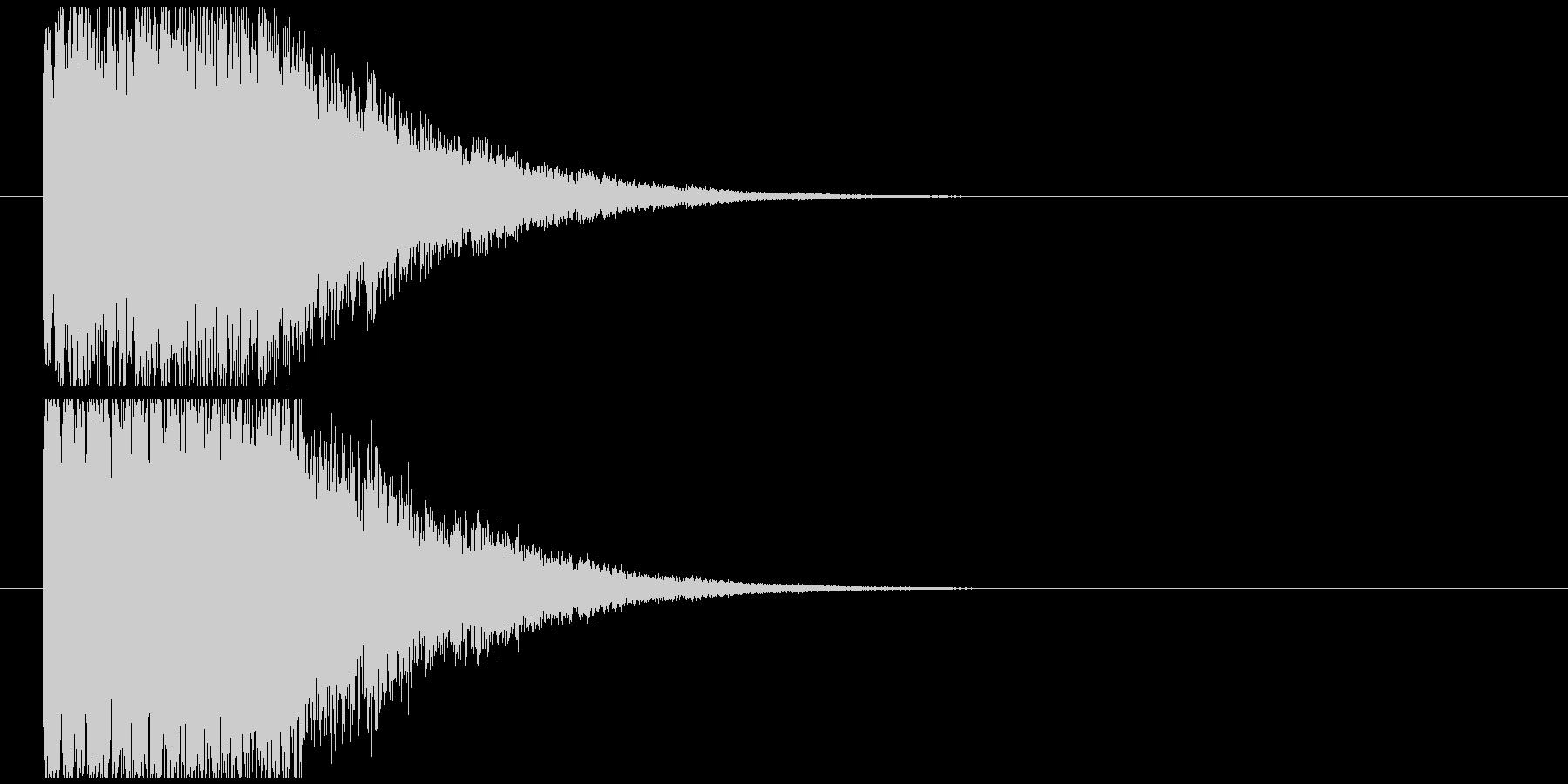 少し光り系インパクトの未再生の波形