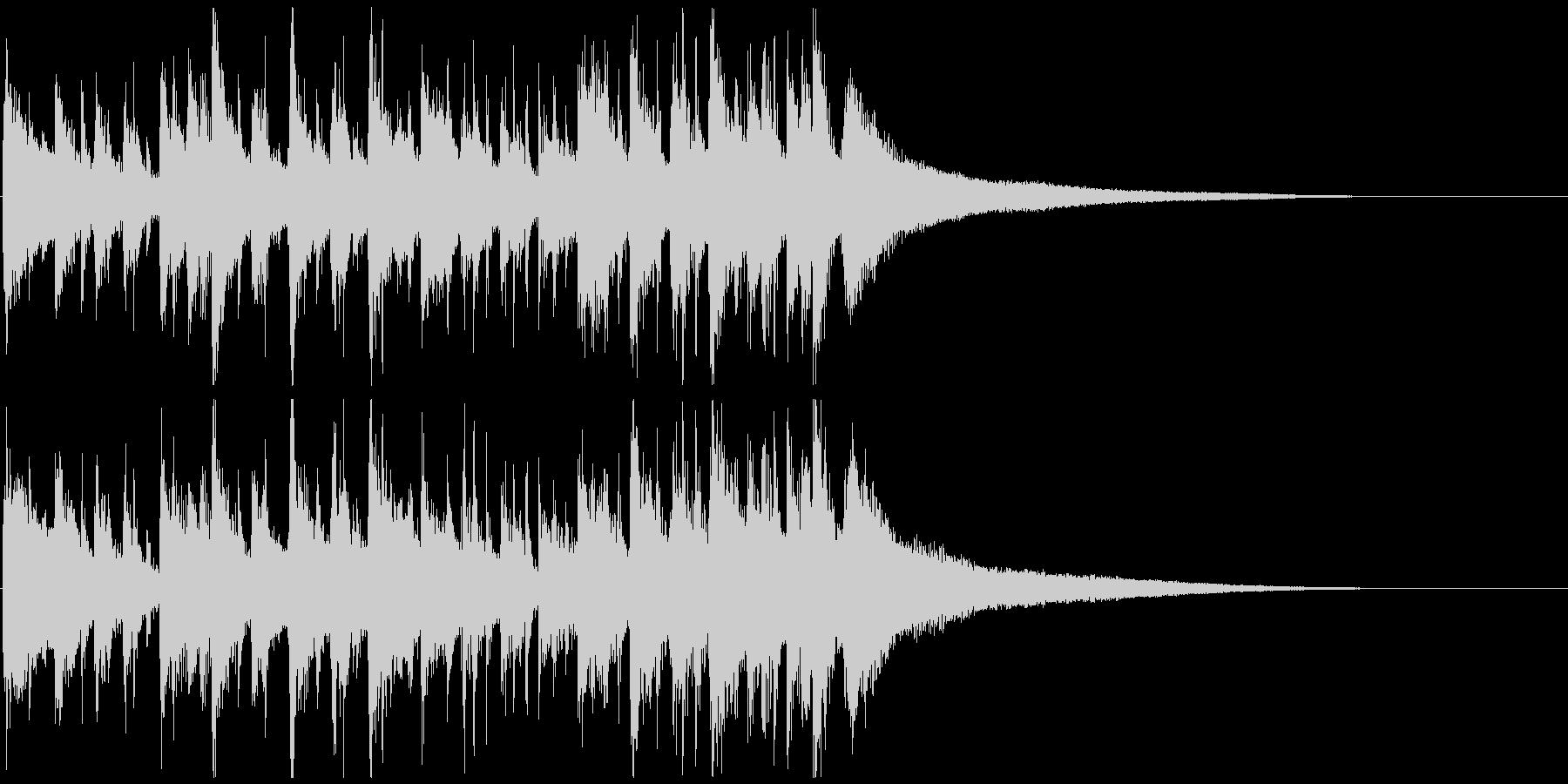 おしゃれなボサノバオープニングジングルの未再生の波形